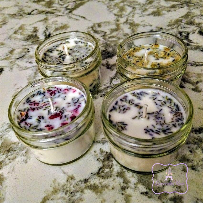 Botanical Infused Favors Gift Ideas For Bespoke Scents: Soy Candle, Botanical Candle. Natural Candle, Lavender