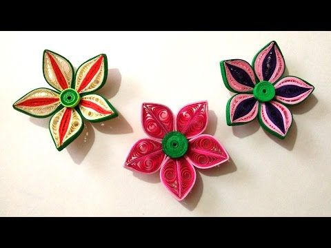 How To Make Beautiful 3D Flower Using Paper Art Quilling - YouTube