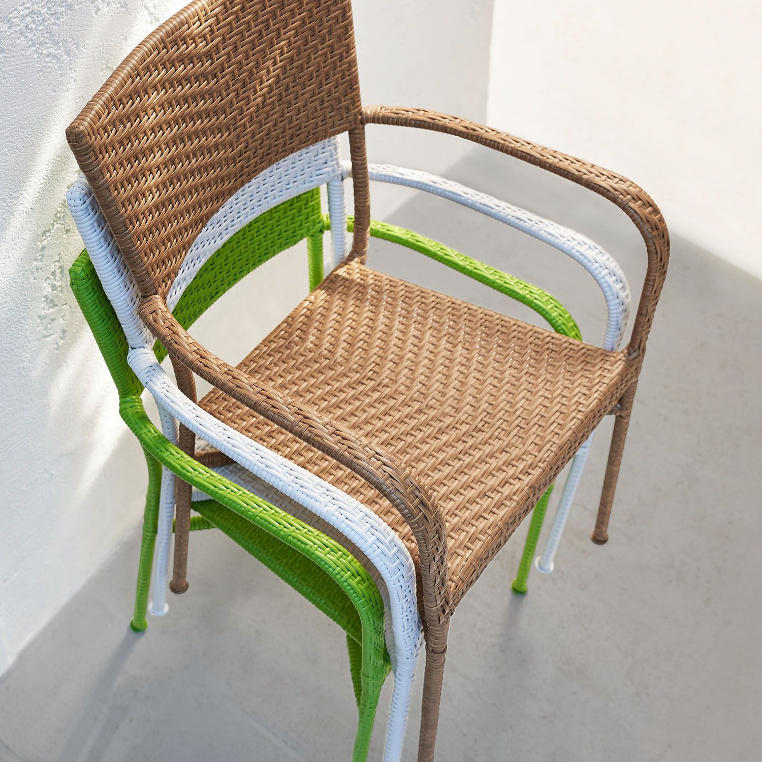 Del Rey Light Brown Stacking Chair Hammock Swing Chair Backyard Seating Outdoor Dining Chairs