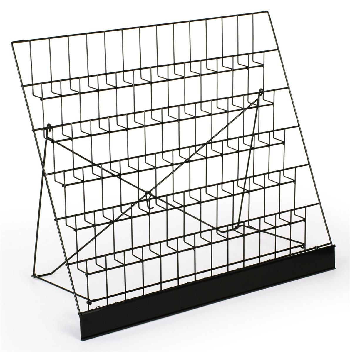 6 Tiered 29 Wire Display Rack For Tabletops 2 5 Open Shelves