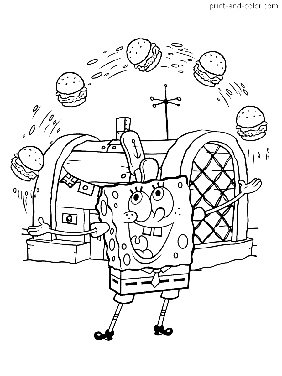 Spongebob Squarepants Coloring Pages Print And Color Com Spongebob Coloring Spongebob Drawings Coloring Pages
