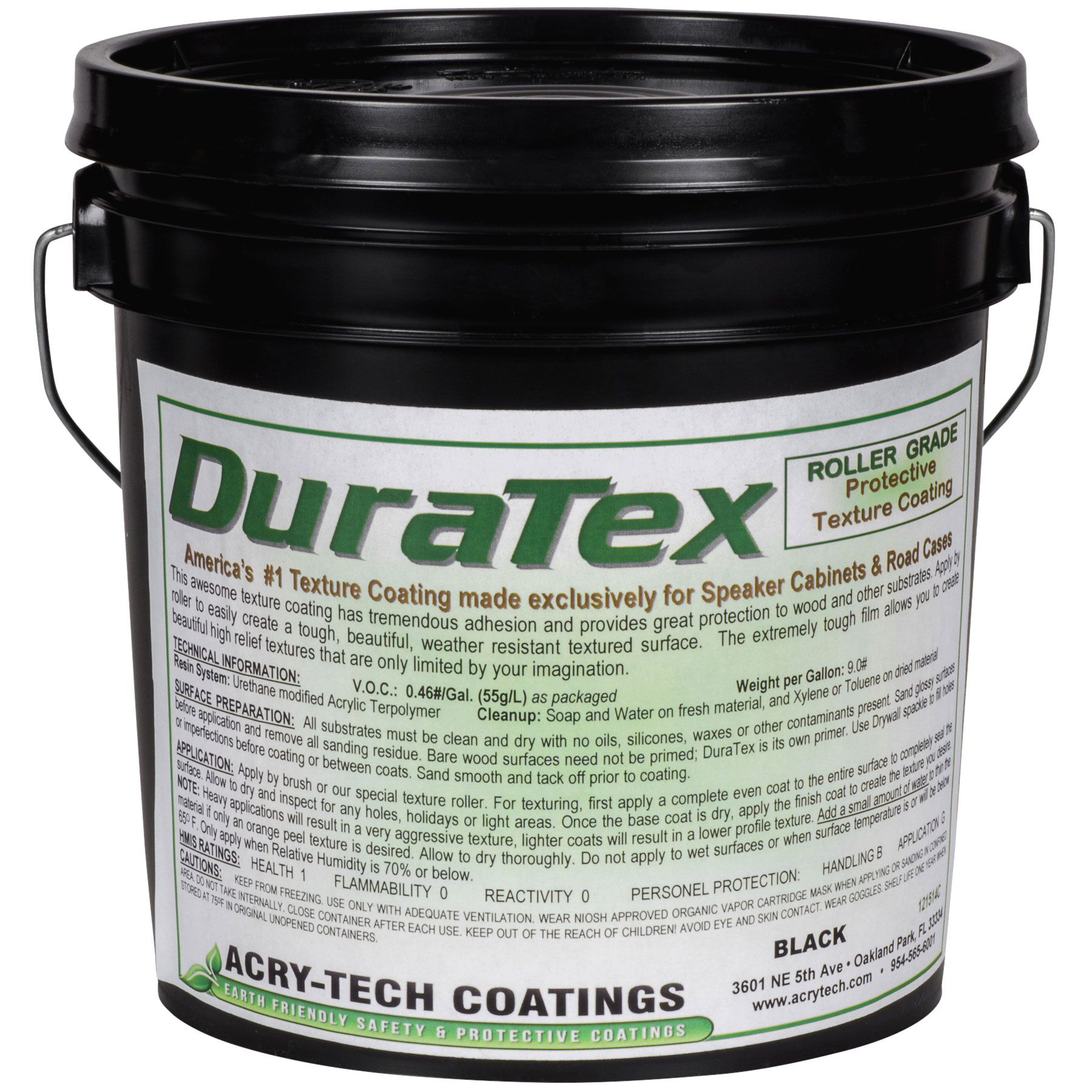 Acry-Tech DuraTex Black 1 Gal Roller Grade Cabinet Coating | Music ...