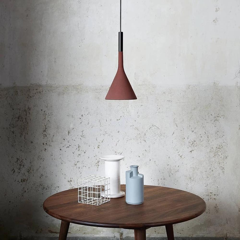 White Minimalistinterior Design: Nordic Aplomb Luminaire Design Concrete Pendant Lamp