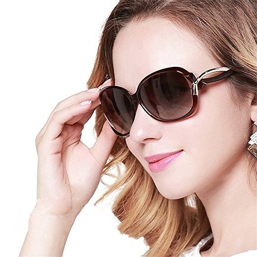 b0244697d Duco Women's Stylish Polarized Sunglasses Star Glasses 100% UV Protection  2229 (Brown):