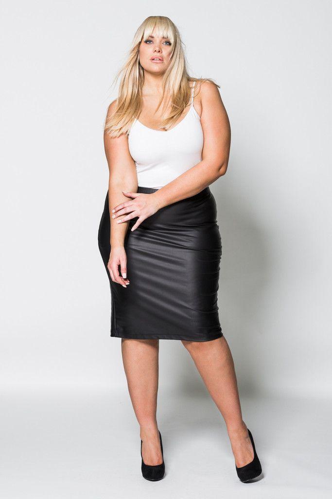 Wet'n wild scuba pencil skirt - Plus Size Women (Dunway ...