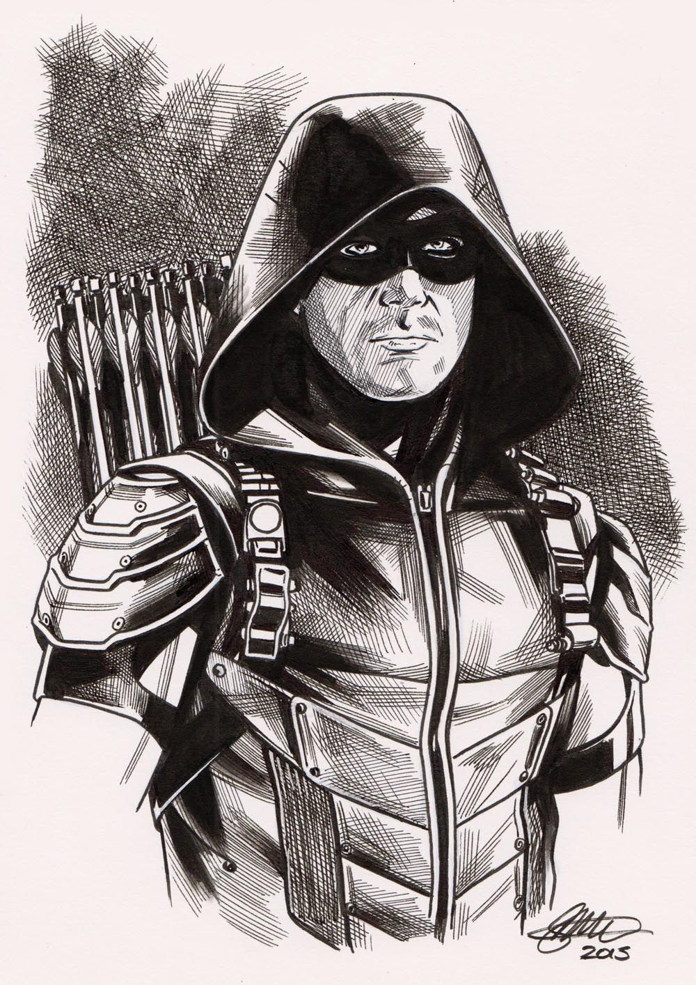 Green Arrow A5 David Golding 2015 By Davidgolding Desenhos
