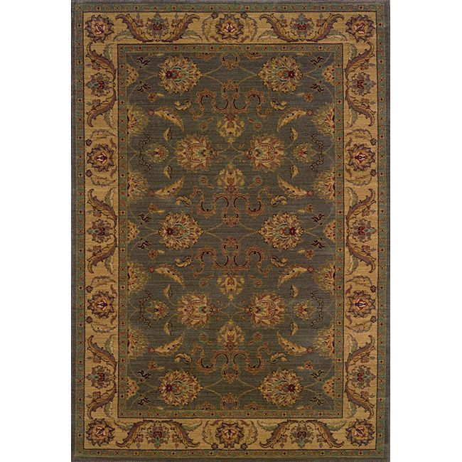 Style Haven Ellington Green/Beige Traditional Area Rug (3'10 x 5'5) (Machine Made-made 100% Nylon)