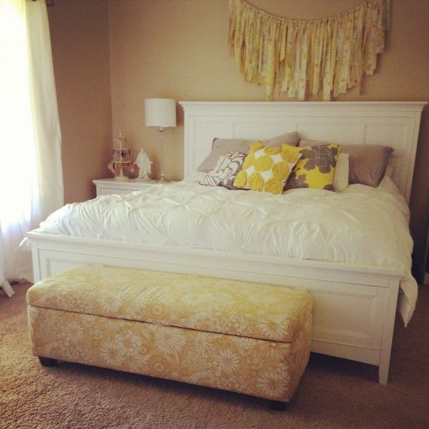 DIY Fabric Garland Hung Over The Bed--a Simple Tutorial On