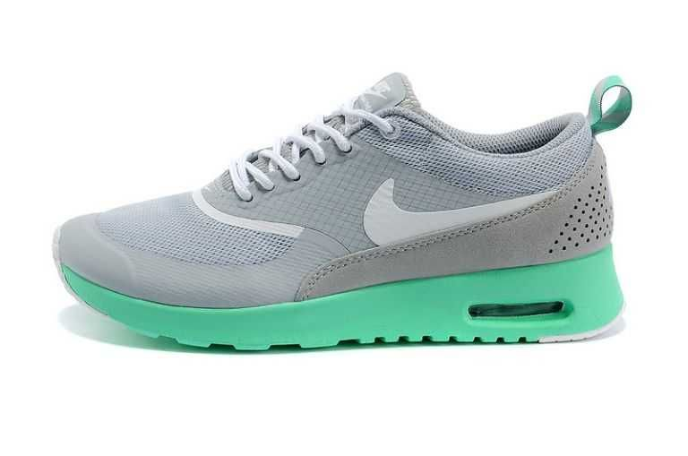 new styles 09fa3 6b32c cheapest uk market nike air max thea womens light grey new green trainers  70300 4cd2f