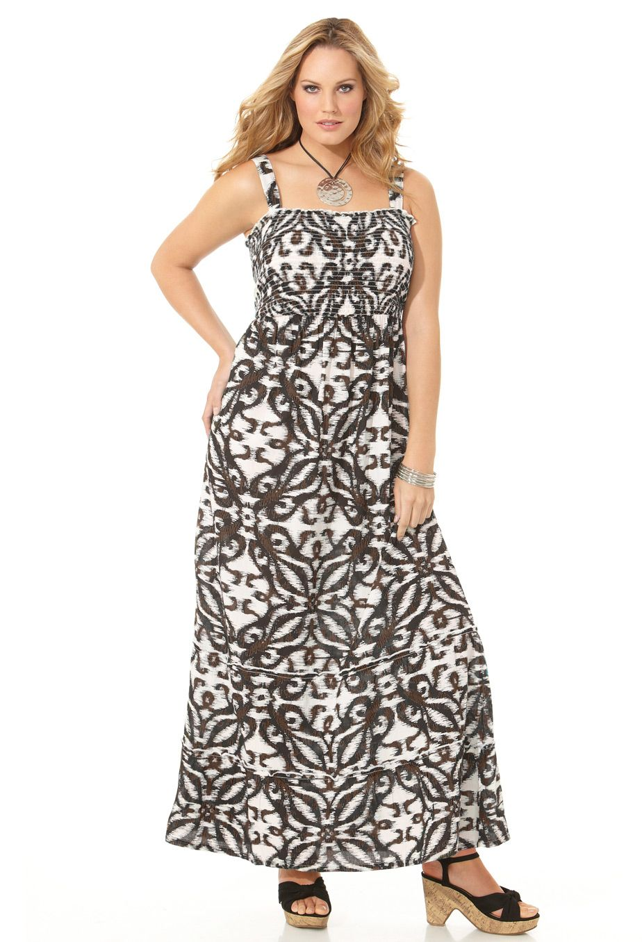 128941b136 Plus Size Smocked Bandeau Maxi Dress | Plus Size $19.96 Clearance | Avenue