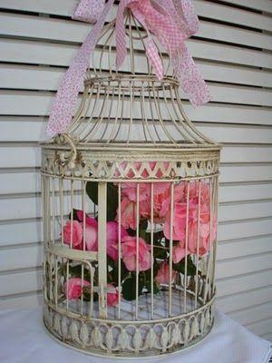 Jaula con flores jaulas birdcages pinterest bird cages - Decoracion con jaulas ...