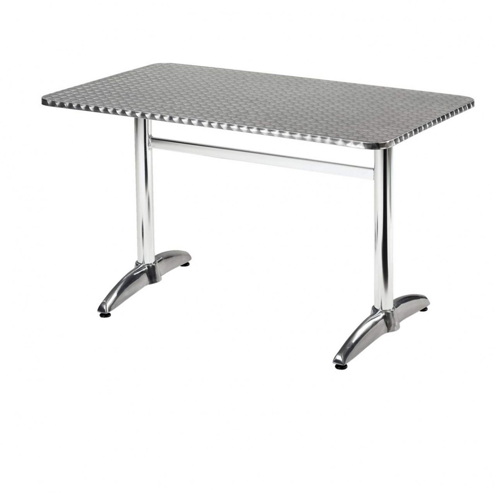 27 X 43 Rectangular Aluminum Table Top With Base At Fashionseating