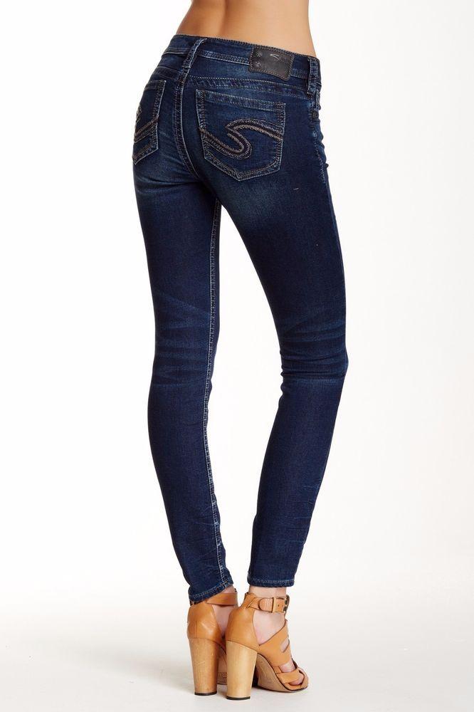 9b35063c SILVER JEANS SALE Mid Rise Tuesday Super Skinny Joga Stretch Jean 33 X 29 # SilverJeans #SlimSkinny
