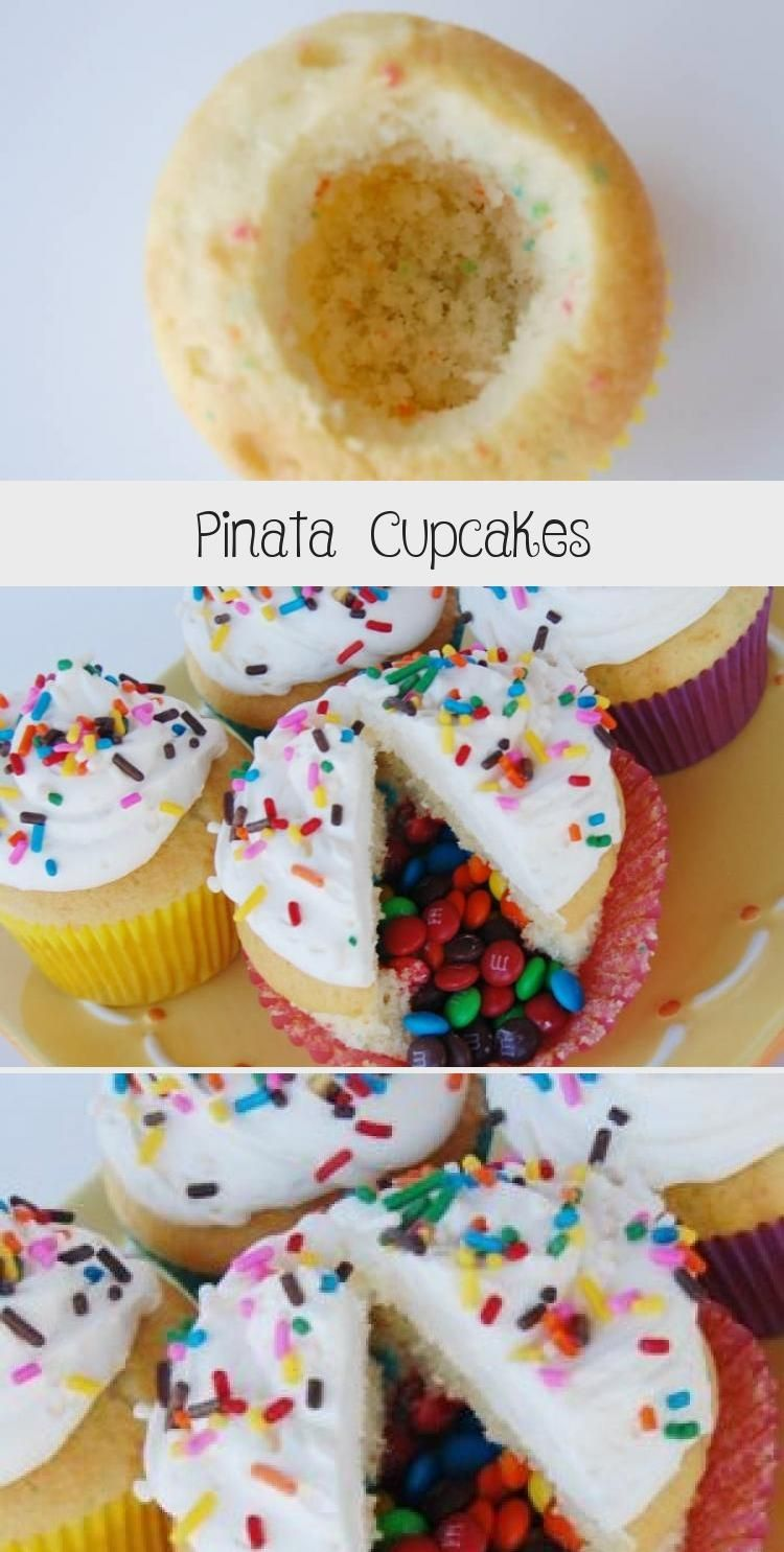 Photo of These Pinata Cupcakes are a fun dessert idea that your guests will love! They're…