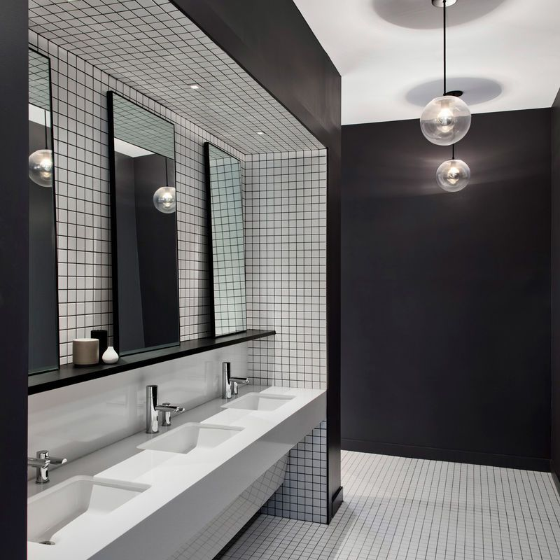 Ultra Modern Office Interiors Public Restroom Design Restroom Design Modern Office Interiors