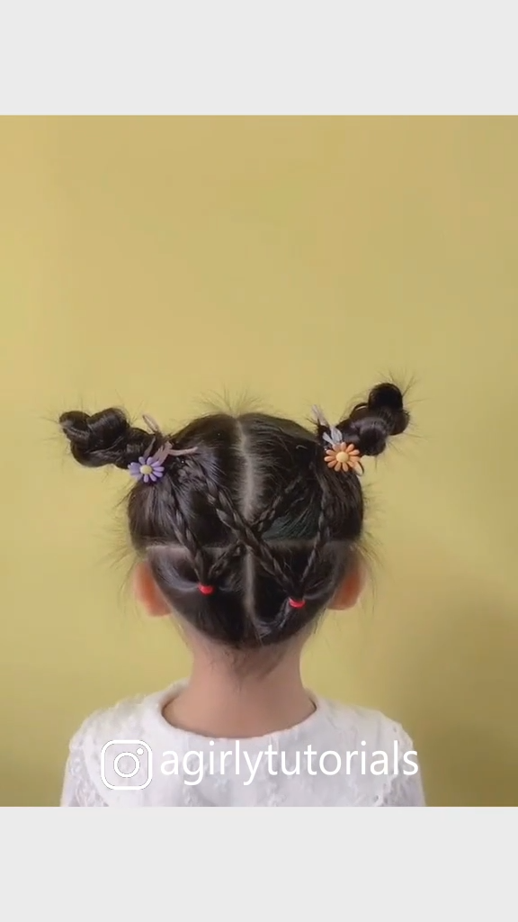 10 Easy and Cute Hairstyles for Little Girls Part 1