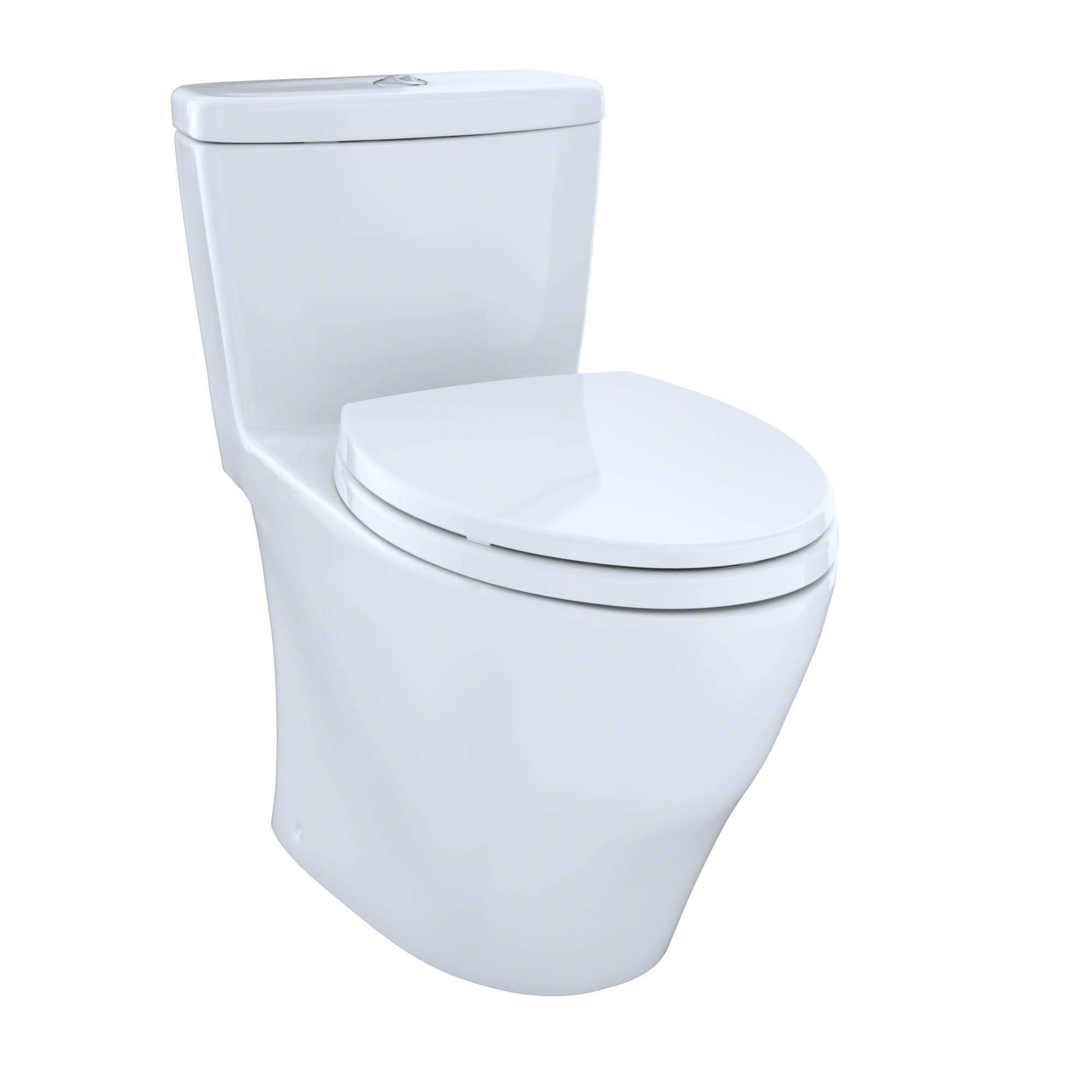 Toto Aquia Elongated One Piece Toilet MS654114MF#01 Cotton White ...