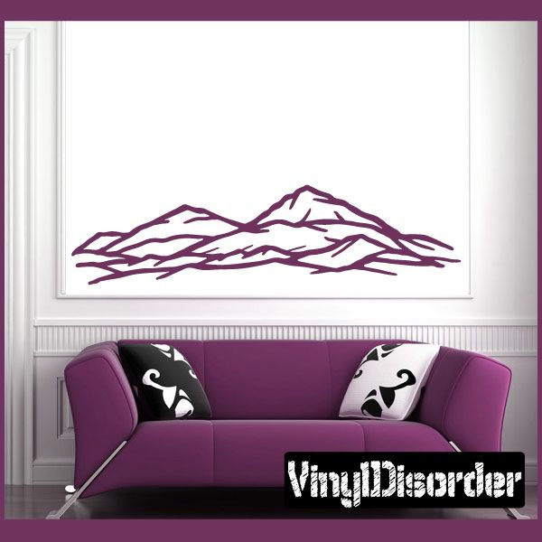 Mountain Wall Decal - Vinyl Decal - Car Decal - NS57