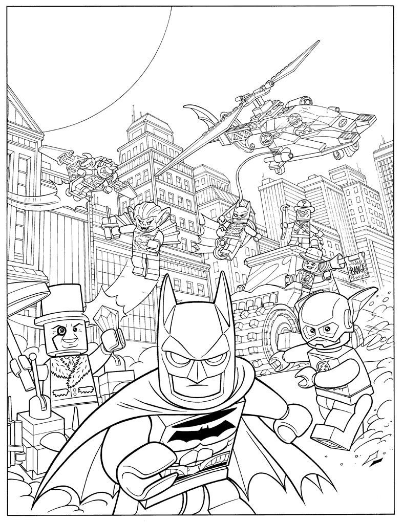 Batman Lego Coloring Page Printable in 2020 | Lego ...