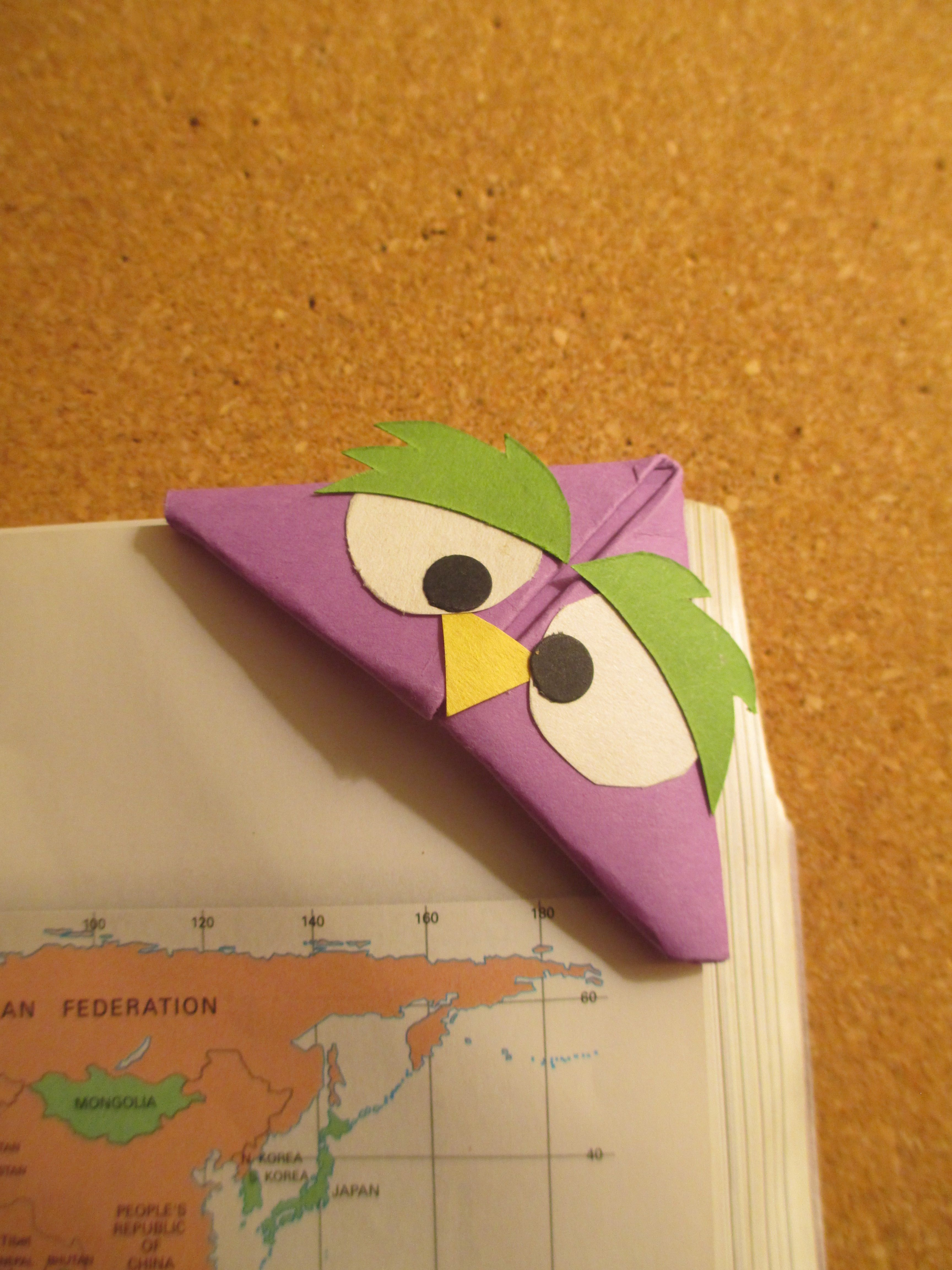 bird bookmark handmade origami bookmarks pinterest marque page marque et page. Black Bedroom Furniture Sets. Home Design Ideas