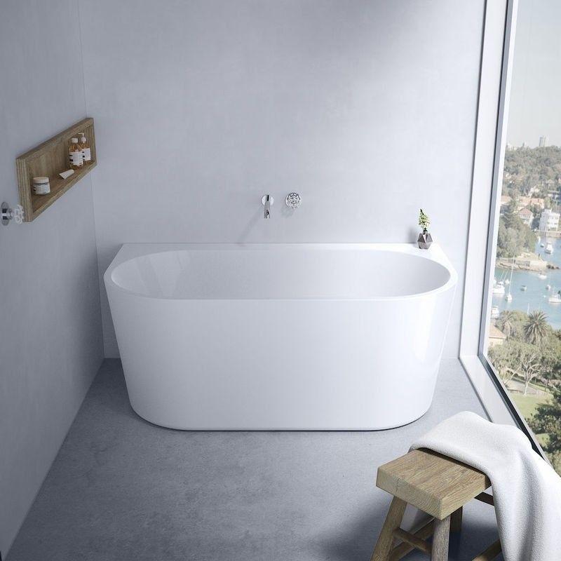 Caroma Aura Back To Wall Freestanding Bath 1400 X 735 D 46cm Deep