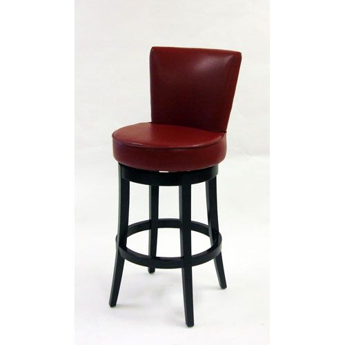 Attractive Armen Living Boston 26 Inch Red Bicast Leather Swivel Barstool