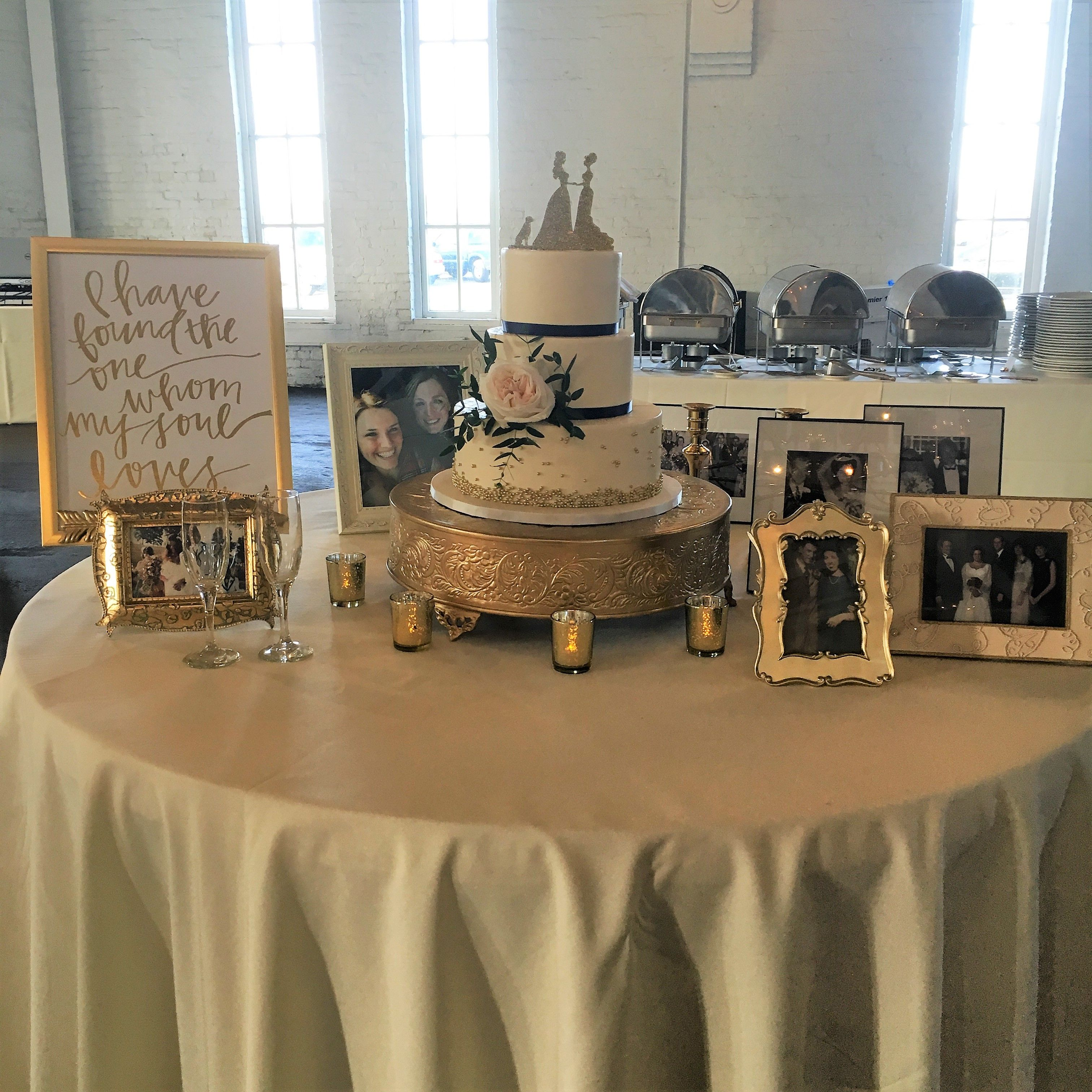 Round Barn Memory Cake Table 50th Anniversary Table Decorations