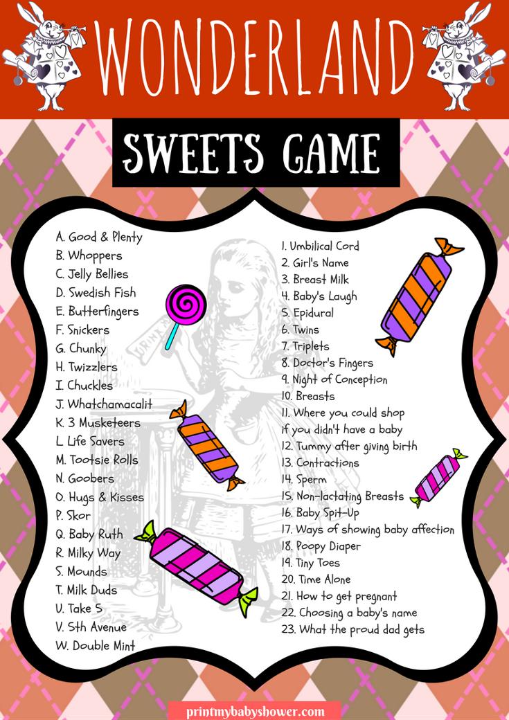 Alice in Wonderland-Baby Shower Game Set 02-BABY-DIY-Printable Games