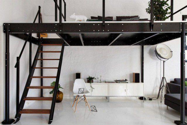 Lit Mezzanine Deux Places Fonctionalite Et Variantes Creatives Loft Spaces Loft Interiors Loft Design