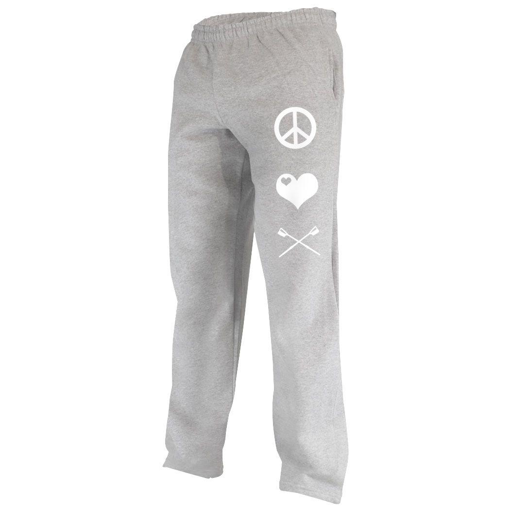 Toddler Jogger Pants Love Heart Hockey Sweatpants
