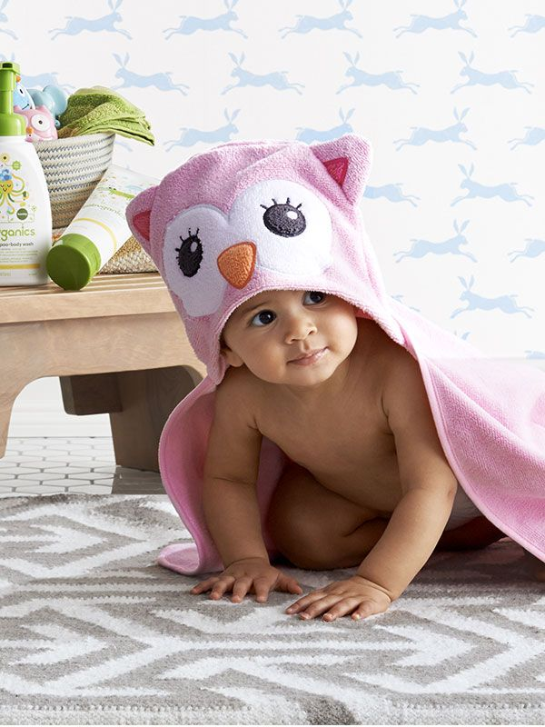 Make Baby\'s bath time a hoot with the Circo hooded owl bath towel ...