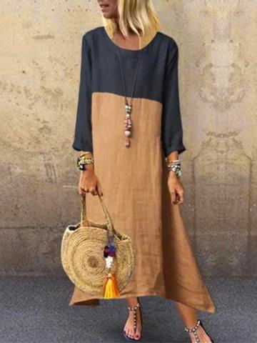 Sukienki Kombinezony Dafunia Casual Dress Long Sleeve Shift Dress Long Sleeve Dress