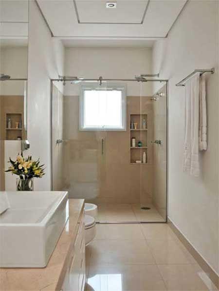 banheiros com porcelanato bege branco preto amarelo. Black Bedroom Furniture Sets. Home Design Ideas