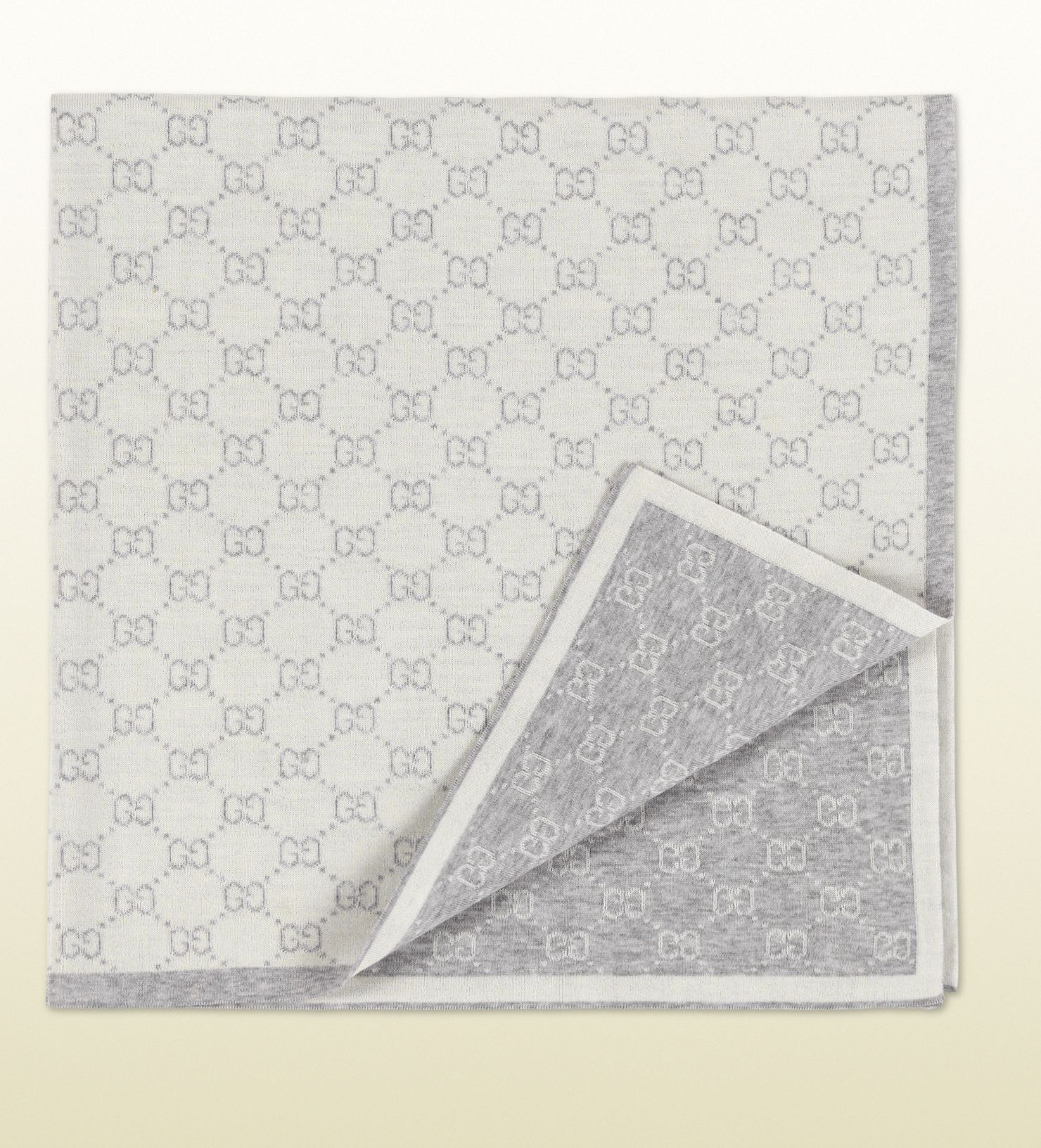 Gucci Mini GG pattern wool baby blanket | Generation Lux