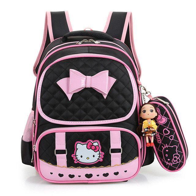 Hello Kitty Children School Bags For Girls Kids Schoolbag Cartoon Kids  School Backpacks Mochila Infantil 4 colors eec40863abaf5