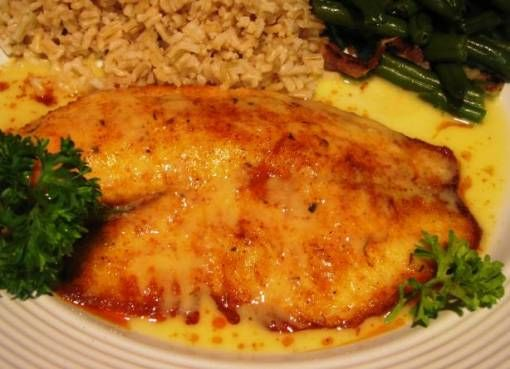 Pan fried fish with a rich lemon butter sauce | Picture ...