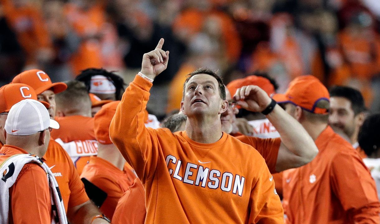 Clemson Tigers Coach Thanks God After Title Win All The Glory Goes To The Good Lord Clemson Clemson Tigers Coach