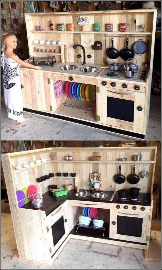 100 Virgin Ideas To Use Old Wooden Pallets 12 Schlammkuche Diy Spielkuche Kuchenplanung