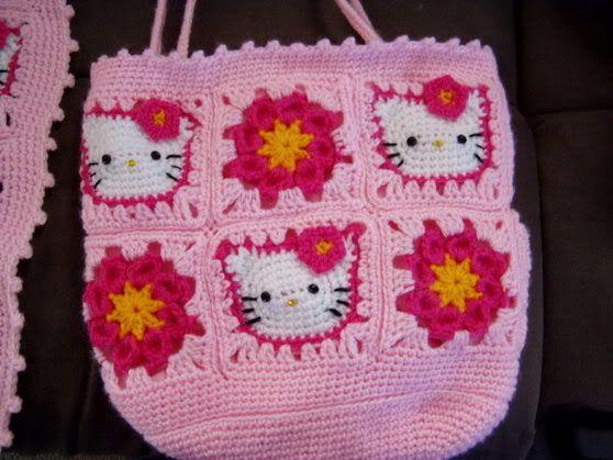 Hello Kitty Scarf And Bag Crochet Haken Pinterest Tassen En
