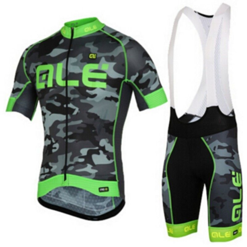 3332c46a3 ALE 2017 Team Camouflage Cycling Jersey With Bib Set Ciclismo Bike Clothes  Suit Bicycle Racing Clothing Quick Dry Ropa ciclismo