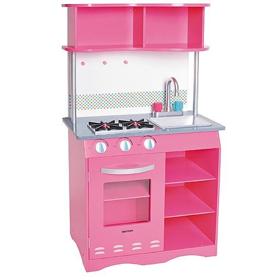 my first kenmore wooden kitchen set - faucet handles are pink for
