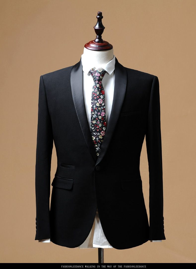 Formal shawl collar groom wedding dress refined fabic tailor made