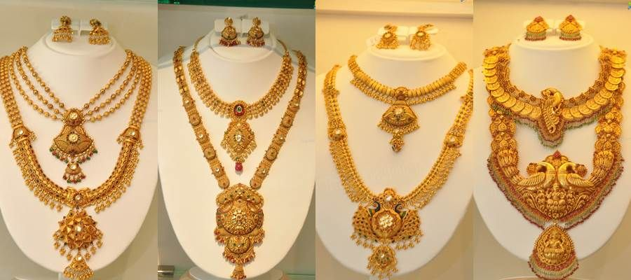 Kazana Gold Jewellery Collections South India Jewels Gold Temple Jewellery Gold Haram Designs Wedding Jewellery Collection