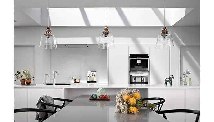 Elegant ovenlys i huset med fladt tag - bygogbolig.dk | Indretning | Pinterest | Elegant and House