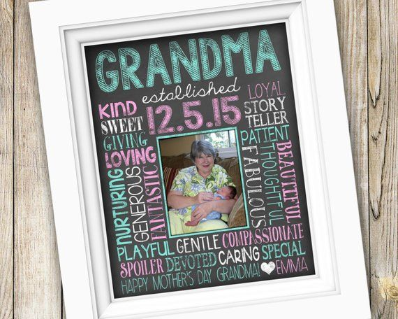 Mothers Day Gift For Grandma First Time From Grandchild Printable Fro