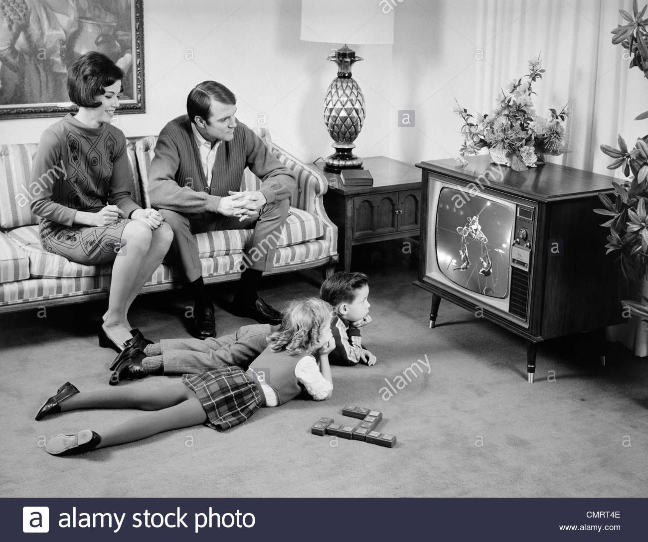 Image result for watching TV 1960s