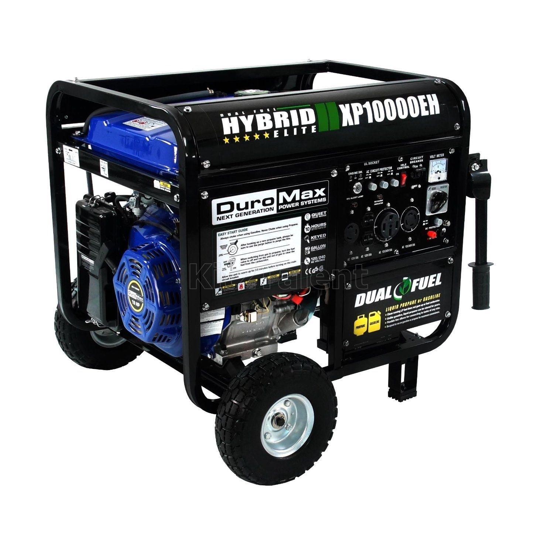 8000 Watt Electric Power Generator Portable Dual Fuel High Voltage