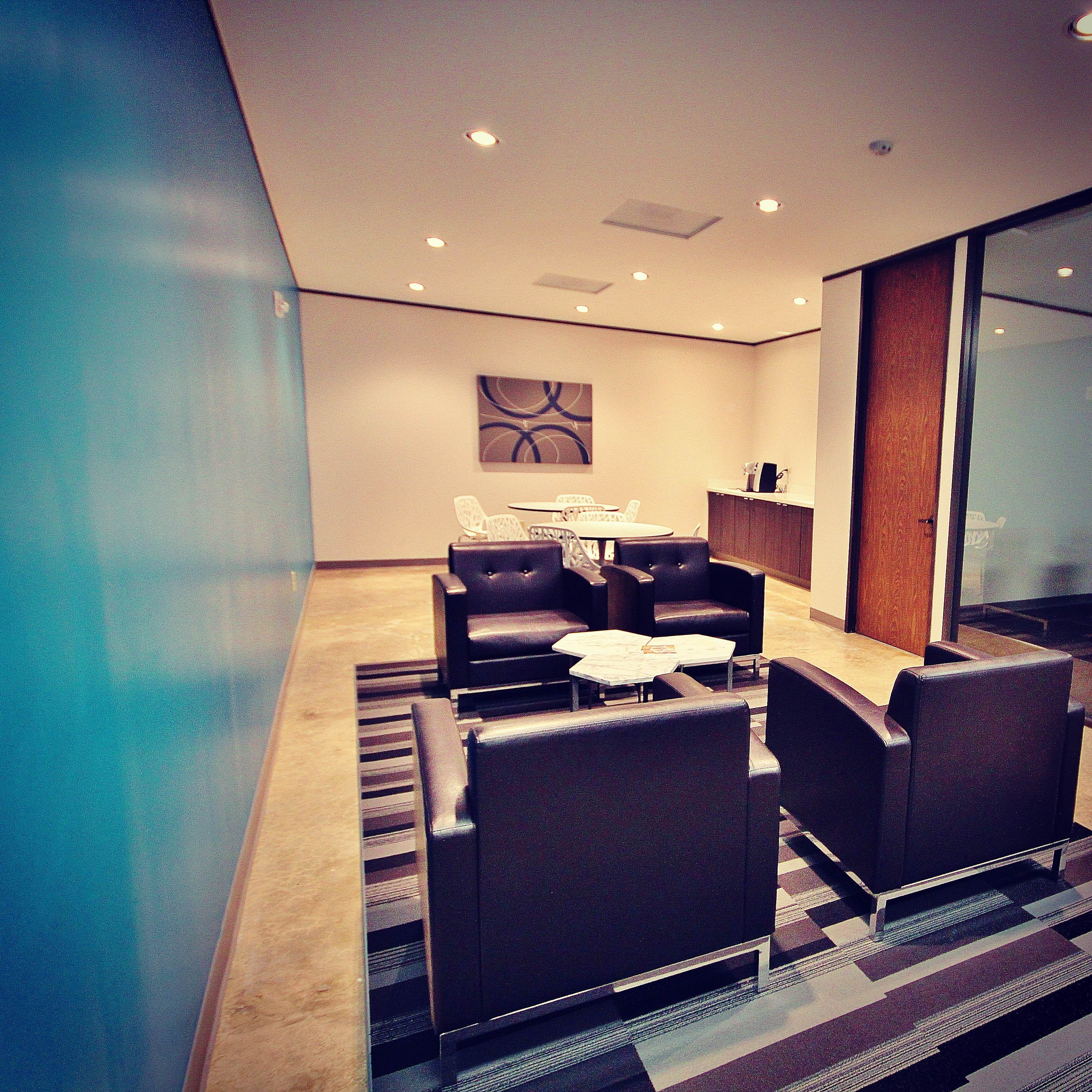 Vibrant Colors And Stylish Furniture Give Our Work Spaces That Modern Feel Small Office Executive Suites Office Rental