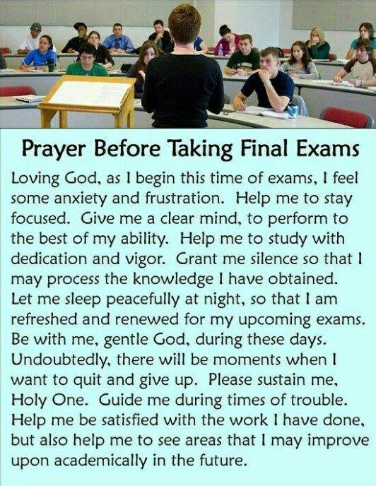 Prayer before taking final exams | Bible | Pinterest ...