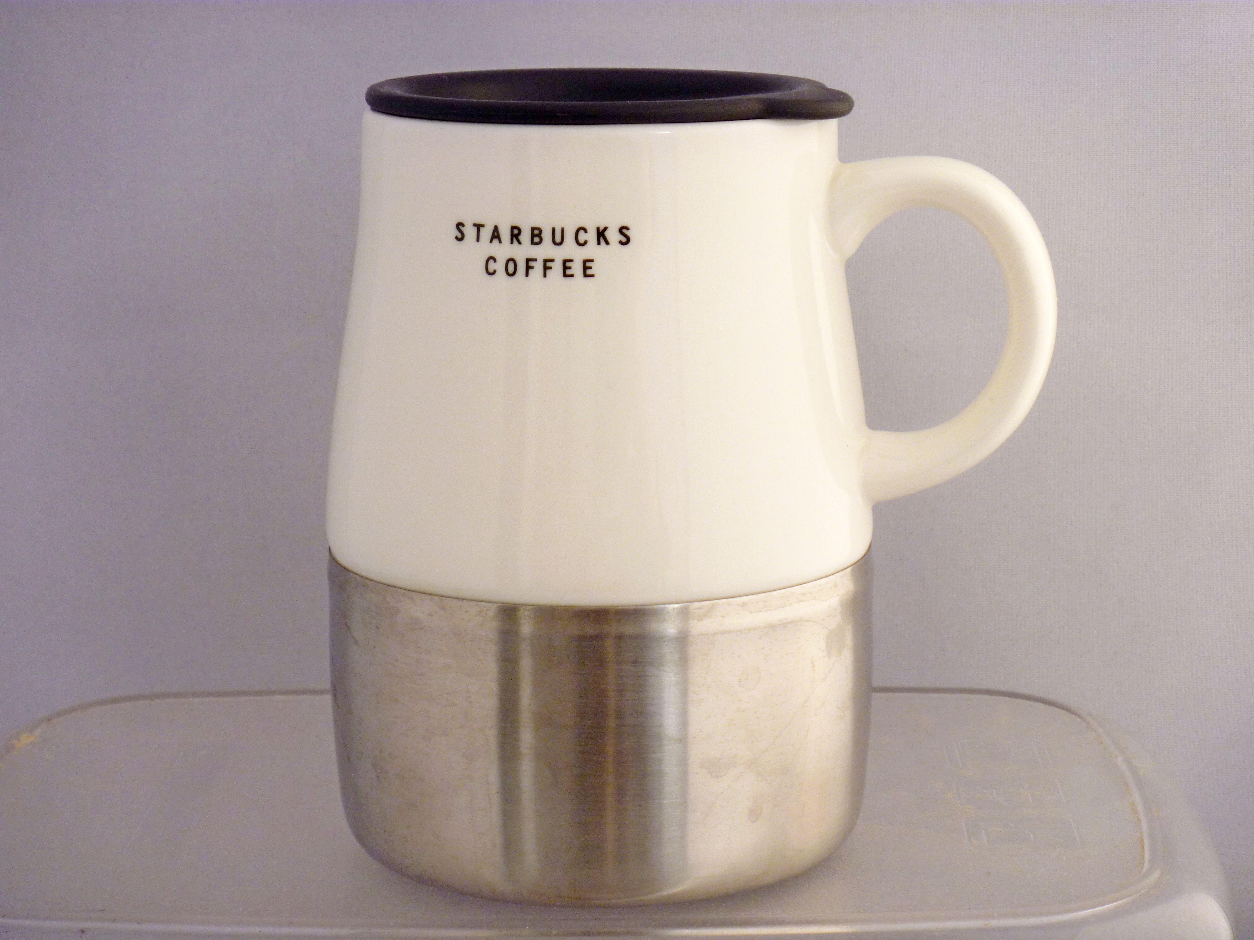 Stainless Ceramic Steel Base14oz Starbucks 2004 UrbanWhite Nwvn8m0